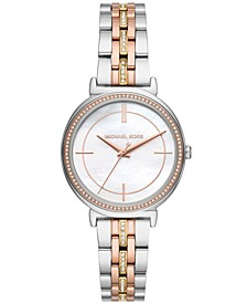 Women's Cinthia Tri-Tone Stainless Steel Bracelet Watch 33mm