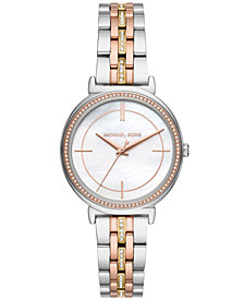 Michael Kors Women's Cinthia Tri-Tone Stainless Steel Bracelet Watch 33mm