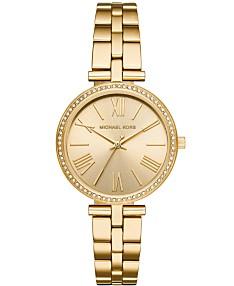 679741c42ba63 Michael Kors Women's Maci Gold-Tone Stainless Steel Bracelet Watch 34mm,  First at Macy's