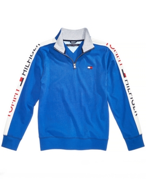 Tommy Hilfiger Toddler Boys Colorblocked QuarterZip Cotton Pullover
