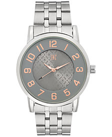 I.N.C. International Concepts Men's Silver-Tone Link Bracelet Watch 42mm, Created for Macy's