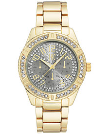 I.N.C. Men's Gold-Tone Link Bracelet Watch 44mm