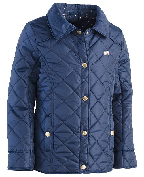 510e78cf91 Tommy Hilfiger Big Girls Quilted Barn Jacket & Reviews - Coats ...