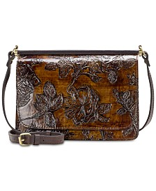 Patricia Nash Bark Leaves Caprera Embossed Leather Crossbody, Created for Macy's