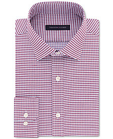 Tommy Hilfiger Men's Fitted Flex Stretch Performance Check Dress Shirt