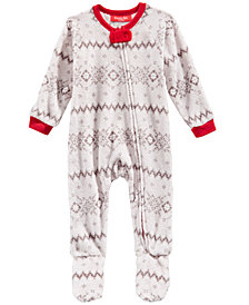Matching Family Pajamas Infants Winter Fairisle Footed Pajamas, Created for Macy's