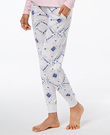 Ande Whisperluxe Space-Dyed Printed Pajama Jogger Pants