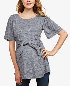 Jessica Simpson Maternity Tie-Front Blouse