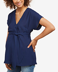 Motherhood Maternity Faux-Wrap Blouse