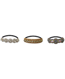 Deepa 3-Pc. Set Embellished Hair Ties