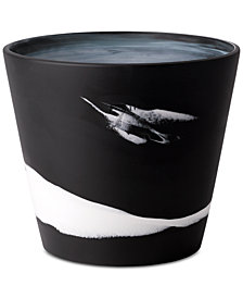 Wedgwood Burlington Black & White Pot 7""
