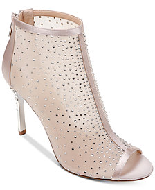 Jewel Badgley Mischka Jodie Peep-Toe Shooties