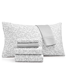 Norvara 500 Thread Count 6-Pc. Printed Queen Sheet Set