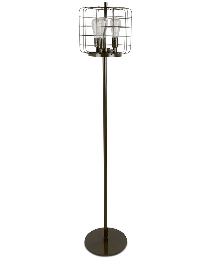 Lumisource - Indy Cage Industrial Floor Lamp