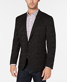 Men's Slim-Fit Black Camouflage Sport Coat, Online Only