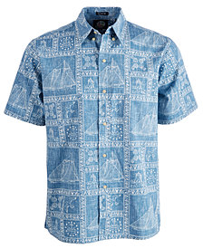 Reyn Spooner Men's Newport Sailor Printed Shirt