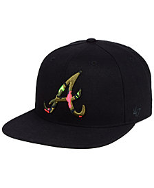 '47 Brand Atlanta Braves Camfill Neon Snapback Cap