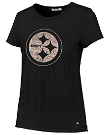 '47 Brand Women's Pittsburgh Steelers Letter Crew T-Shirt