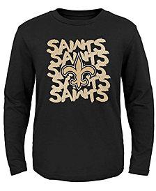 Outerstuff New Orleans Saints Graph Repeat T-Shirt, Toddler Boys (2T-4T)