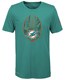 Nike Miami Dolphins Football Icon T-Shirt, Big Boys (8-20)