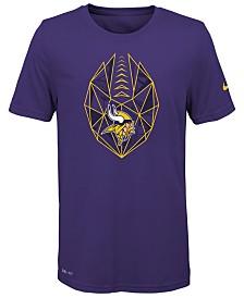 Nike Minnesota Vikings Football Icon T-Shirt, Big Boys (8-20)