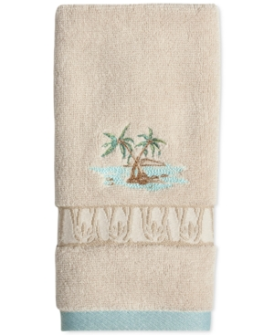 Lenox British Colonial Cotton Terry Embroidered Fingertip Towel Bedding