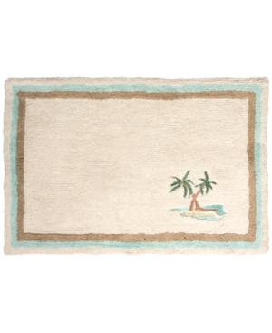Lenox British Colonial Cotton Embroidered 20 x 30 Bath Rug Bedding