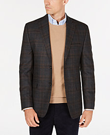 Lauren Ralph Lauren Men's Slim-Fit UltraFlex Stretch Gray/Brown Check Wool Sport Coat