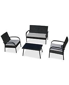Skylar 4-Pc. Tea Table Chair Set, Quick Ship