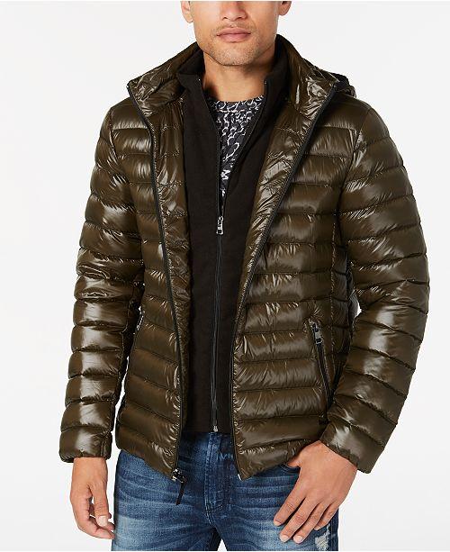 878d205c452 ... Calvin Klein Men's Big & Tall Packable Down Puffer Jacket with Fleece  ...