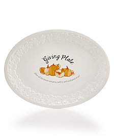 Martha Stewart Collection Giving Plate, Created for Macy's