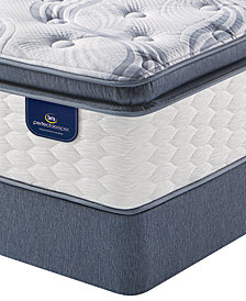 Serta Perfect Sleeper 13.75'' Broadview Plush Pillow Top Mattress Set- Queen