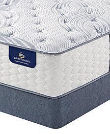 Serta Perfect Sleeper 13.75'' Glendower Plush Mattress Set- Queen