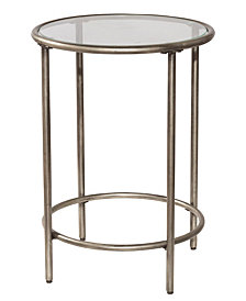 Corbin End Table with Top Glass Shelf