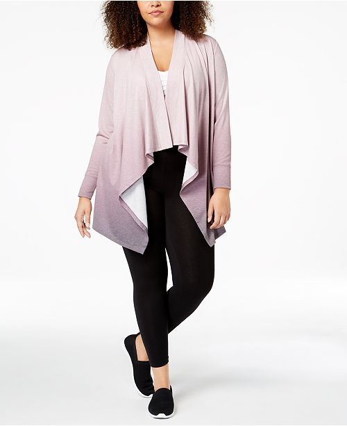 Ideology Plus Size Dip-Dyed Wrap, Created for Macy's