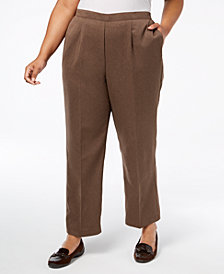 Alfred Dunner Plus Size Sunset Canyon Pull-On Pants, Regular & Short Inseam