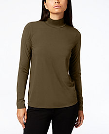 Eileen Fisher Stretch Jersey Mock-Neck Top, Regular & Petite