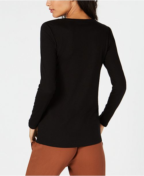 Neck Top Fisher Eileen Slim Round Black Ux80Fqz