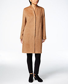 Eileen Fisher Alpaca Blend Stand-Collar Coat