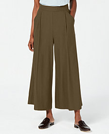 Eileen Fisher Washable Crepe Wide-Leg Ankle Pants, Regular & Petite