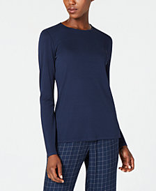 Eileen Fisher Long-Sleeve Silk Top, Regular & Petite