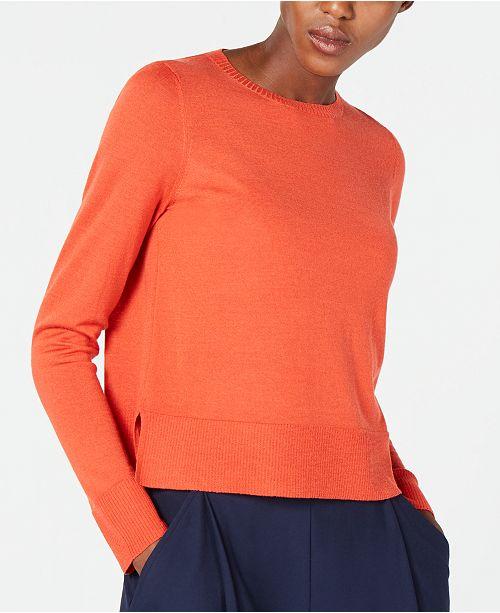 amp; Wool Fisher Red Regular Sweater Merino Petite Dark Lory Eileen qZX6xHEPwH