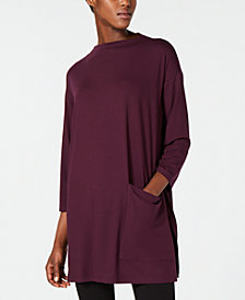 Eileen Fisher Stretch Jersey Patch Pocket Tunic, Regular & Petite