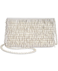 Adrianna Papell Indi Fringe Clutch