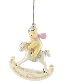Lenox 2018 Winnie The Pooh Baby's 1st Ornament
