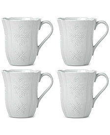 Lenox Alpine Carved Mugs, Set of 4