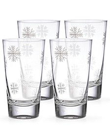 Alpine Snowflake Highball Glasses, Set of 4