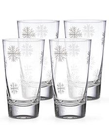 Lenox Alpine Snowflake Highball Glasses, Set of 4