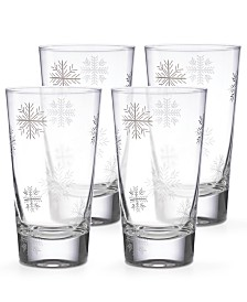 Lenox Alpine Snowflake Highball Glasses, Set of 4