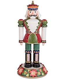 Fitz and Floyd Holiday Poinsettia Nutcracker
